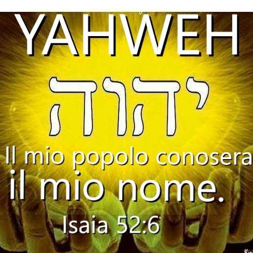 Yahweh vero unico Dio