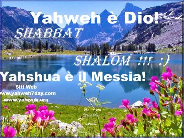 Yahweh Dio ha creato il Sabato