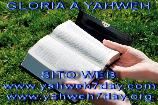 Solo nella Bibbia troverai dove Yahweh ti parla.
