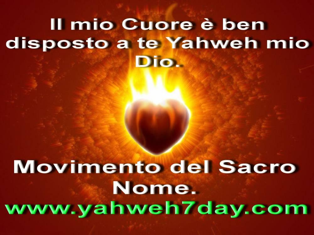 Yahweh conosce il tuo cuore