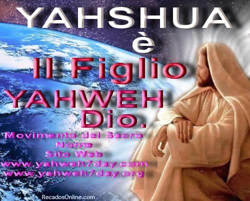 Yahweh è unico vero creatore