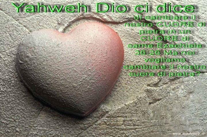 Cambiare il cuore di pietra in un cuore di carne