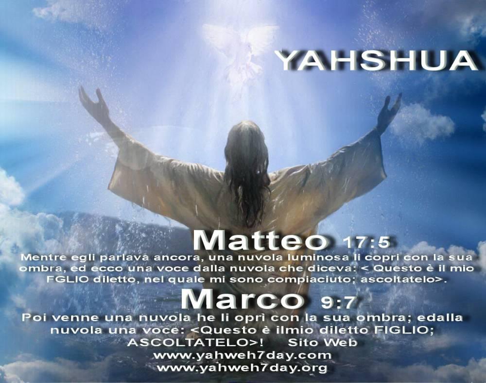 Yahshua Figlio di Dio