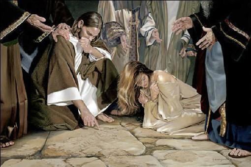 Chi è senza peccato scaglia per prima la pietra