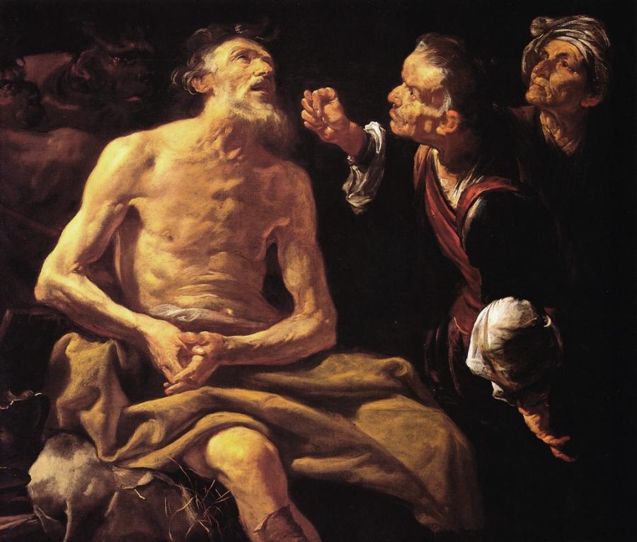 Giobbe fu retto davanti a Yahweh