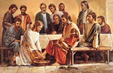 Yahshua fa l´ultima cena con gli apostali