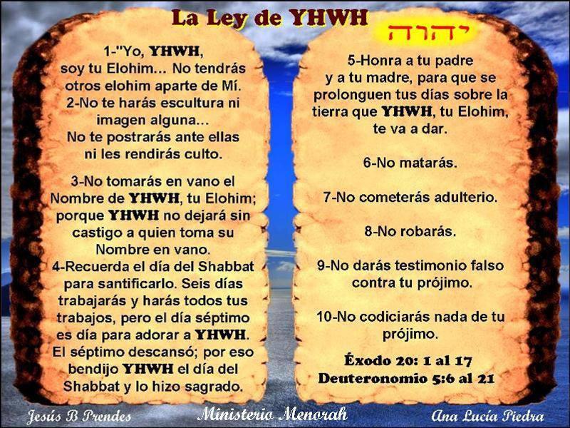 I COMANDAMENTI SCRITTI CON IL DITO DI YAHWEH DIO!