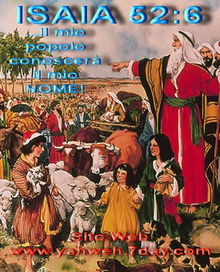 Yahweh Dio ci dice, SONO IO CHE HO PARLATO