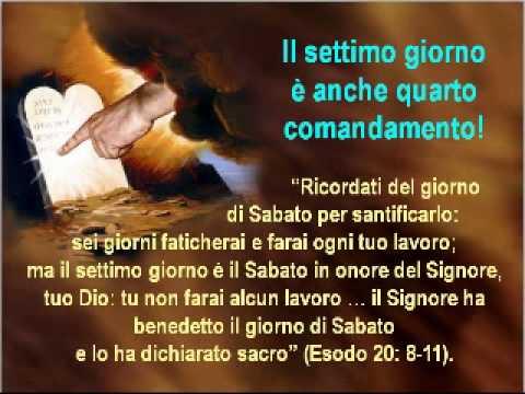 Sabato creato da Yahweh Dio