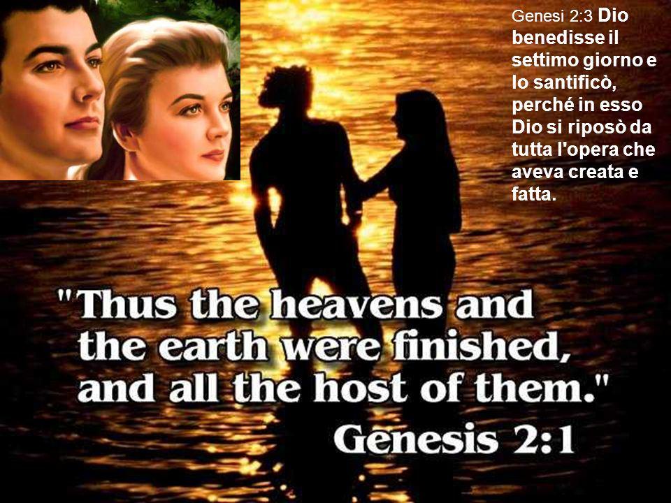 Yahweh ha santificato il 7 giorno