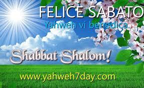 SABATO CREATO DA YAHWEH