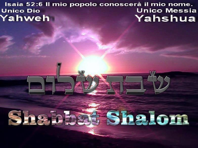 Yahweh Dio Santifica il Sabato