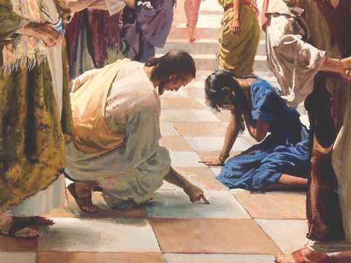 Yahshua difende la donna adultera