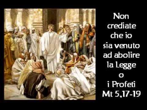 Non è venuto ad abolire la legge di Dio